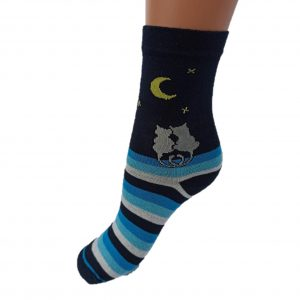 dehep, mintás, zokni